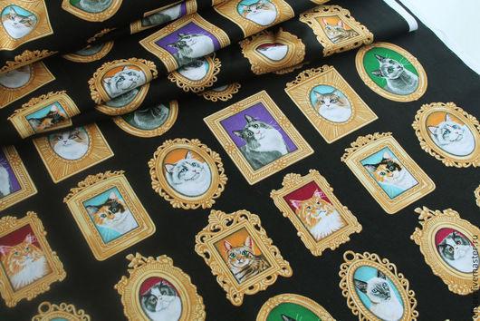 """Шитье ручной работы. Ярмарка Мастеров - ручная работа. Купить Ткань """"Коты. Портреты"""". Handmade. Ткани, ткань для творчества, Кошки"""