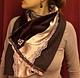 Шарфы и шарфики ручной работы. Ярмарка Мастеров - ручная работа. Купить Дамское кашне / шарф из шелка, бархата и тонкой шерсти. Handmade.