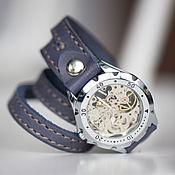 Часы наручные ручной работы. Ярмарка Мастеров - ручная работа Часы-браслет Long River. Handmade.
