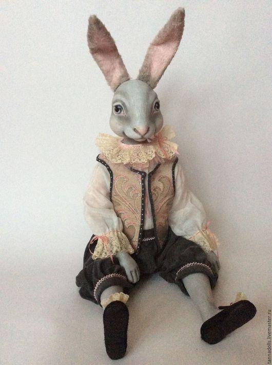 Коллекционные куклы ручной работы. Ярмарка Мастеров - ручная работа. Купить Шевалье Рози-Грей. Кролик подвижный. Handmade. Кролик
