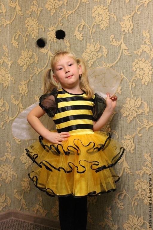 Карнавальные костюмы ручной работы. Ярмарка Мастеров - ручная работа. Купить Новогодний костюм для девочки  Пчёлка Майя. Handmade. Желтый