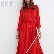 Одежда handmade. Livemaster - original item dresses: Scarlet Shirt Dress Premium fabric. Handmade.