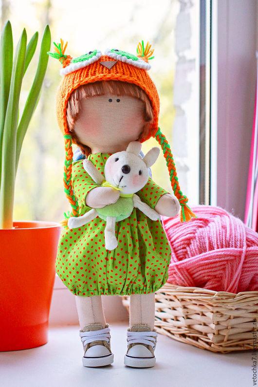 Коллекционные куклы ручной работы. Ярмарка Мастеров - ручная работа. Купить интерьерная кукла. Handmade. Фуксия, интерьер