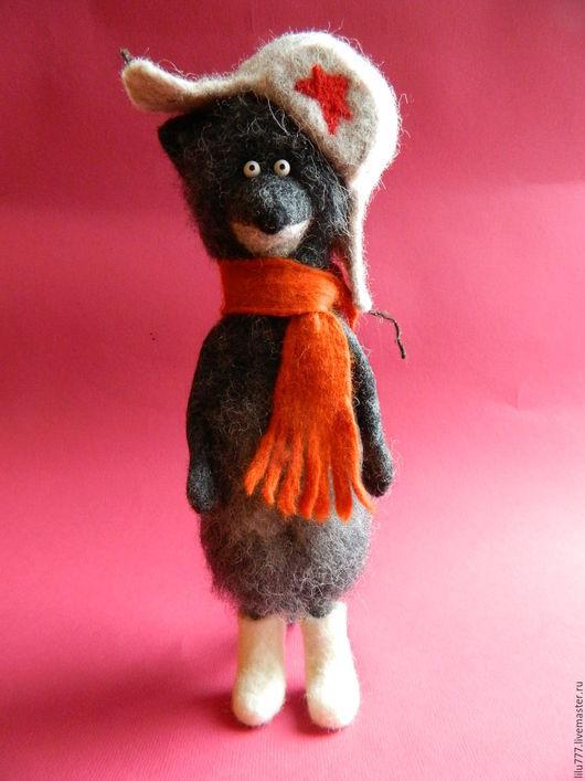 """Игрушки животные, ручной работы. Ярмарка Мастеров - ручная работа. Купить Волчок """"К зиме готов!"""". Handmade. Волк, шерсть"""