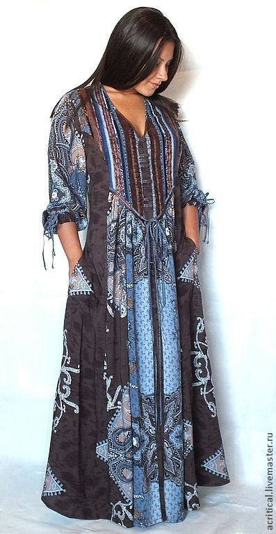 74f80343f31 Dresses handmade. Boho-dress  Chocolate blue . PolMary. My Livemaster.