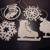 Подарки к праздникам handmade. Livemaster - original item A set of hangers on the tree snowflakes (5pcs.). Handmade.