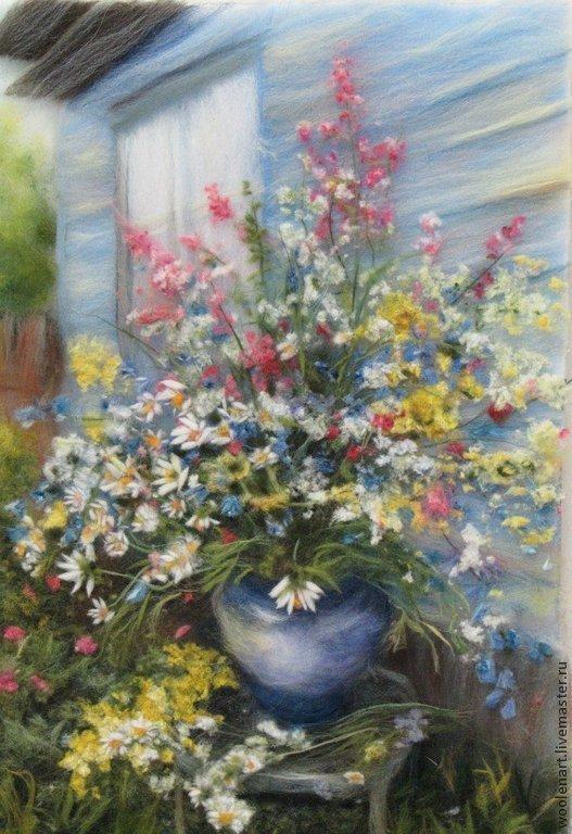 Картины цветов ручной работы. Ярмарка Мастеров - ручная работа. Купить Лето в разгаре. Handmade. Цветы, яркая, красивая картина
