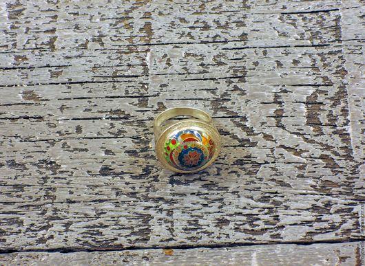 """Кольца ручной работы. Ярмарка Мастеров - ручная работа. Купить Кольцо """"Цветочный купол"""". Handmade. Серебро 925 пробы, голубой"""