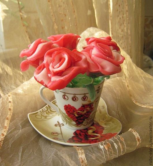 """Мыло ручной работы. Ярмарка Мастеров - ручная работа. Купить Сувенирное мыло """"РОЗАвый букет"""". Handmade. Розовый, мыло сувенирное"""