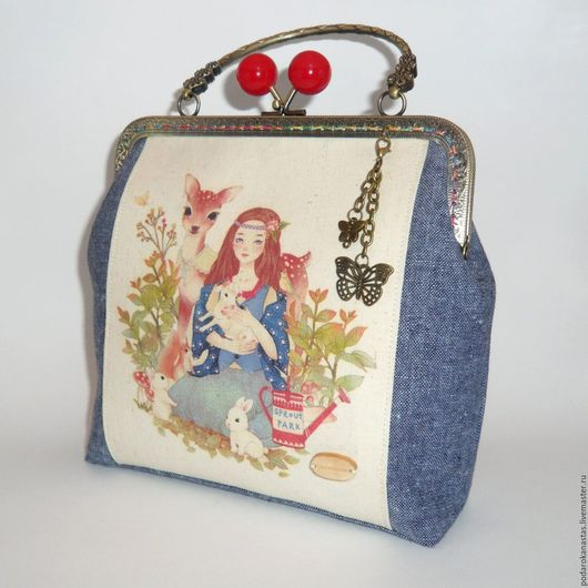 Женские сумки ручной работы. Ярмарка Мастеров - ручная работа. Купить Сумка женская,сумка женская с фермуаром,фермуар,handmade. Handmade.