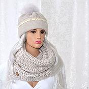 Аксессуары handmade. Livemaster - original item Knitted women`s hat with a lapel takori