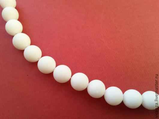 Для украшений ручной работы. Ярмарка Мастеров - ручная работа. Купить Агат матовый белый 10 мм, бусины для украшений. Handmade.