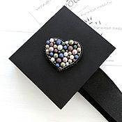 Украшения handmade. Livemaster - original item Swarovski pearl Heart brooch. Handmade.