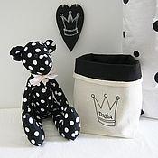 Куклы и игрушки ручной работы. Ярмарка Мастеров - ручная работа Набор в детскую Тильда мишка и корзинка. Handmade.