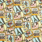 Материалы для творчества ручной работы. Ярмарка Мастеров - ручная работа Кулирная гладь Париж коллаж. Handmade.