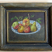 Винтаж handmade. Livemaster - original item Antique painting, oil, still life. Handmade.