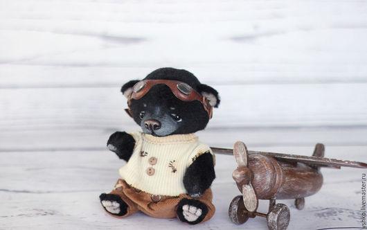 Мишки Тедди ручной работы. Ярмарка Мастеров - ручная работа. Купить Говард мишка тедди. Handmade. Черный, мишка мальчик