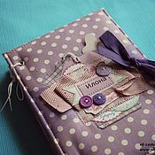 Канцелярские товары handmade. Livemaster - original item Purple album. Handmade.