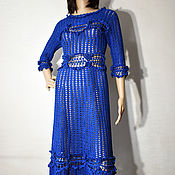 handmade. Livemaster - original item Odette Crochet Dress. Silk, cotton.. Handmade.