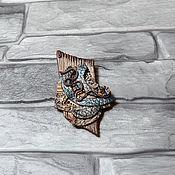 Украшения handmade. Livemaster - original item Brooch Wood traces from polymer clay. Handmade.
