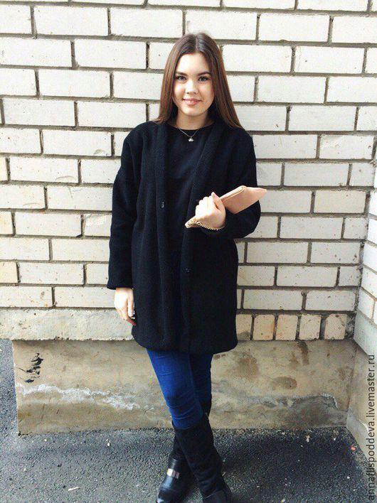 Верхняя одежда ручной работы. Ярмарка Мастеров - ручная работа. Купить Пальто-кардиган из натуральной итальянской шерсти, oversize.. Handmade.