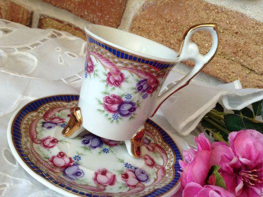 Винтажная посуда. Ярмарка Мастеров - ручная работа. Купить Кофейная пара. Handmade. Разноцветный, винтажный стиль, кофе, сервиз
