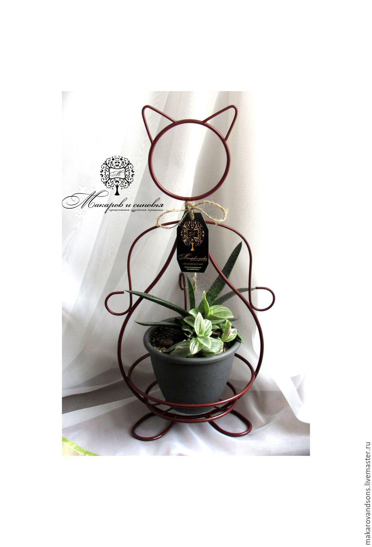 Flower Stands handmade. Livemaster - handmade. Buy Cat big.Cat, cat strut