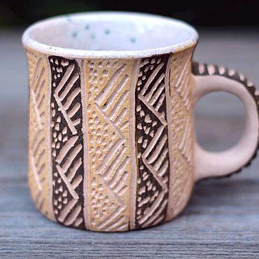Посуда ручной работы. Ярмарка Мастеров - ручная работа Спокойная кружка. Handmade.