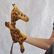 Куклы и игрушки ручной работы. Ярмарка Мастеров - ручная работа Жираф. Перчаточная кукла. Би-Ба-Бо.. Handmade.