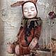 Коллекционные куклы ручной работы. Ярмарка Мастеров - ручная работа. Купить тедди-малыш. Handmade. Тедди-долл, авторская кукла