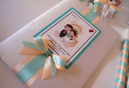 Свадебные аксессуары ручной работы. Ярмарка Мастеров - ручная работа. Купить Папка для свидетельства о браке. Handmade. Разноцветный, папка свадебная