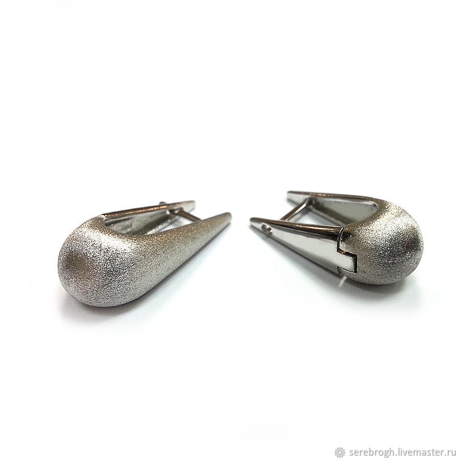 Silver drop earring, Earrings, Moscow,  Фото №1