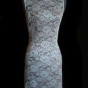 Одежда ручной работы. Ярмарка Мастеров - ручная работа Кружевное платье с шелком 42 р-р тренд сезона. Handmade.