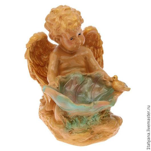 """Статуэтки ручной работы. Ярмарка Мастеров - ручная работа. Купить Сувенир """"Ангел с лилией"""" цветной. Handmade. Комбинированный, гипсовая фигурка"""