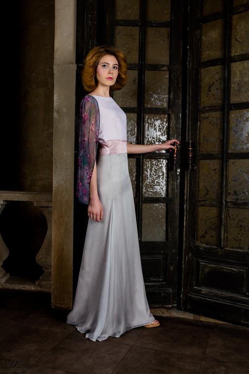 Накидка шелковая на платье