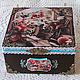 Box of tea bags ' Cat gatherings ', Box, ,  Фото №1