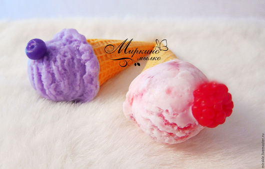 Мыло ручной работы. Ярмарка Мастеров - ручная работа. Купить Мыло Мороженное рожок. Handmade. Разноцветный, креманка, мороженное