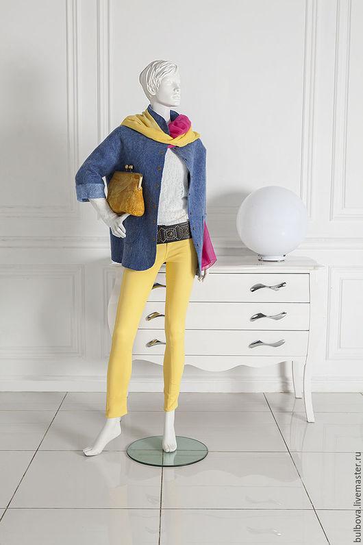 Верхняя одежда ручной работы. Ярмарка Мастеров - ручная работа. Купить Куртка молодежная голубая. Handmade. Голубой, куртка женская