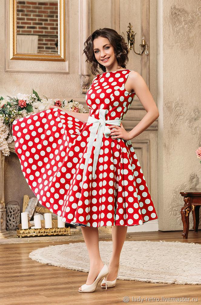 платье в горошек купить в спб