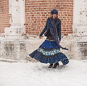 """Одежда ручной работы. Ярмарка Мастеров - ручная работа Вельветовая юбка """"Дождь в лесу"""". Handmade."""