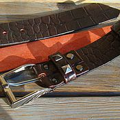 Аксессуары handmade. Livemaster - original item Strap leather CROC Elite A.. Handmade.