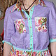 """Платья ручной работы. Ярмарка Мастеров - ручная работа. Купить Платье-рубашка в бохо-стиле """"Оттенки лаванды"""". Handmade. Фиолетовый"""