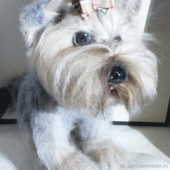 Interior toy-Yorkshire Terrier - will make to order. variation the appearance to your taste. The material (natural wool). Frame wire (turns his head at 45 degrees)