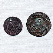 Материалы для творчества ручной работы. Ярмарка Мастеров - ручная работа Монета и жетон с отверстиями антикварные бусины. Handmade.