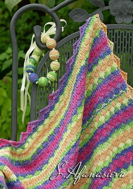 Пледы и одеяла ручной работы. Ярмарка Мастеров - ручная работа. Купить Детский вязаный плед Lollipop. Handmade. Детский плед