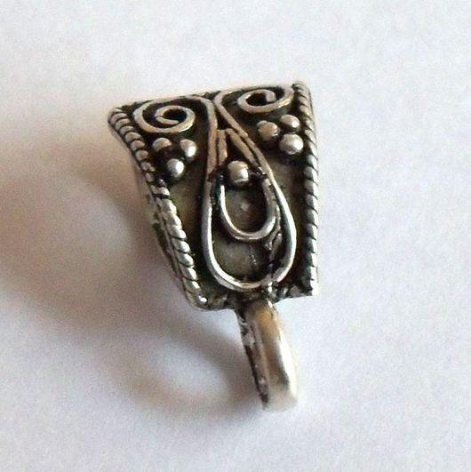 Для украшений ручной работы. Ярмарка Мастеров - ручная работа. Купить Бейл подвесной 15х8 мм Бали Серебро 925. Handmade.