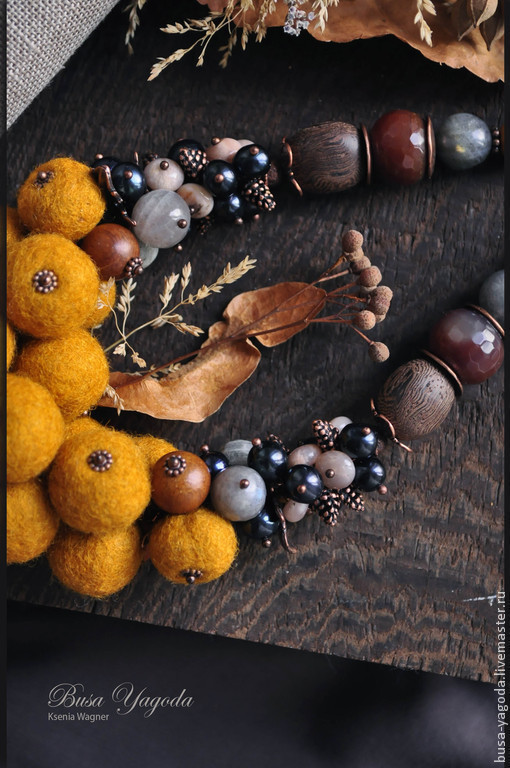 """Колье, бусы ручной работы. Ярмарка Мастеров - ручная работа. Купить Колье ручной работы """"Бархатная осень"""". Handmade. осень"""