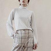 Одежда handmade. Livemaster - original item Cashmere blouse knitted Romano. Handmade.
