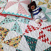 Для дома и интерьера ручной работы. Ярмарка Мастеров - ручная работа БРИГАНТИНА  детский лоскутный плед, пэчворк. Handmade.