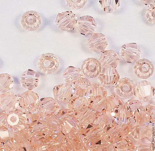 Для украшений ручной работы. Ярмарка Мастеров - ручная работа. Купить Биконусы 4 мм Розовый персик 10 штук. Handmade.